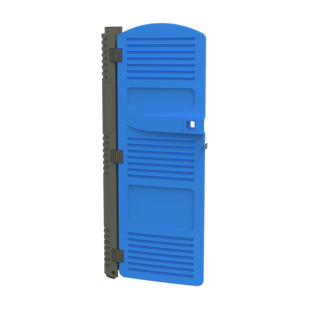 PORTABLE TOILET DOOR COMES ASSEMBLED