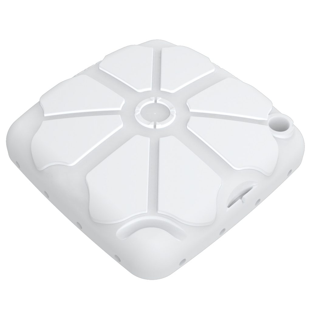 Notched Portable Toilet Roof