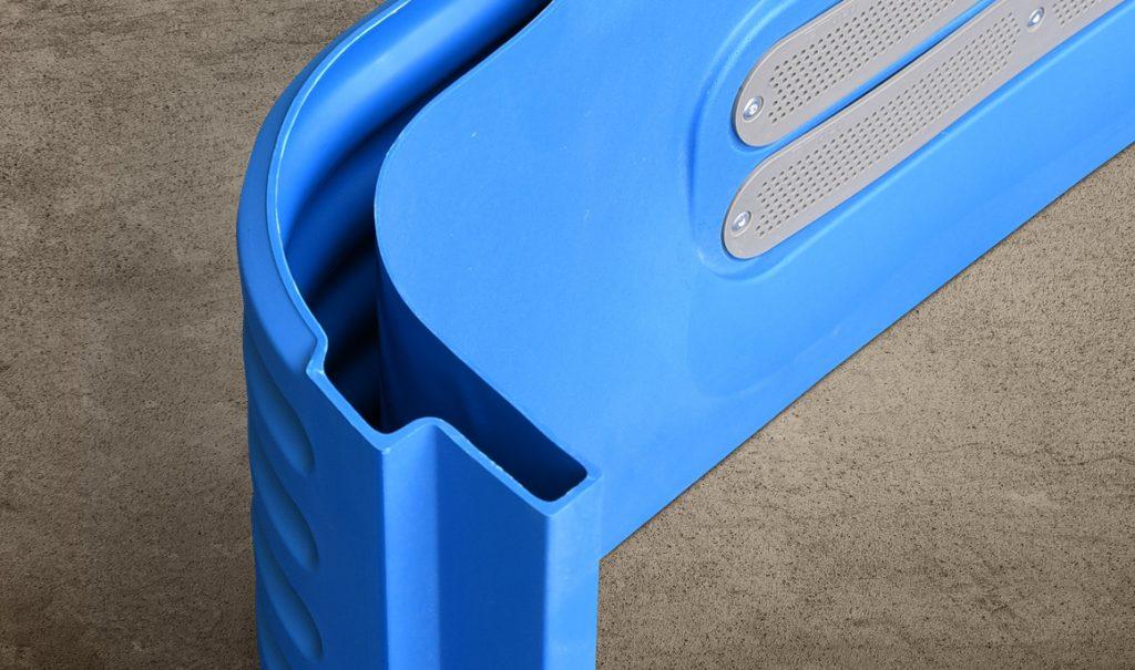 double-wall plastic durable portable toilet