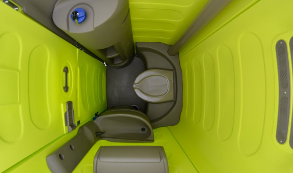 Concealed Rivets in Portable Toilet