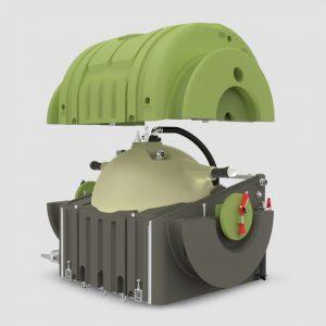 El Tanque de Succión para Servicio de Sanitarios Portátiles Trio Tank está compuesto de 3 tanques contenedores únicos para transportar líquidos.
