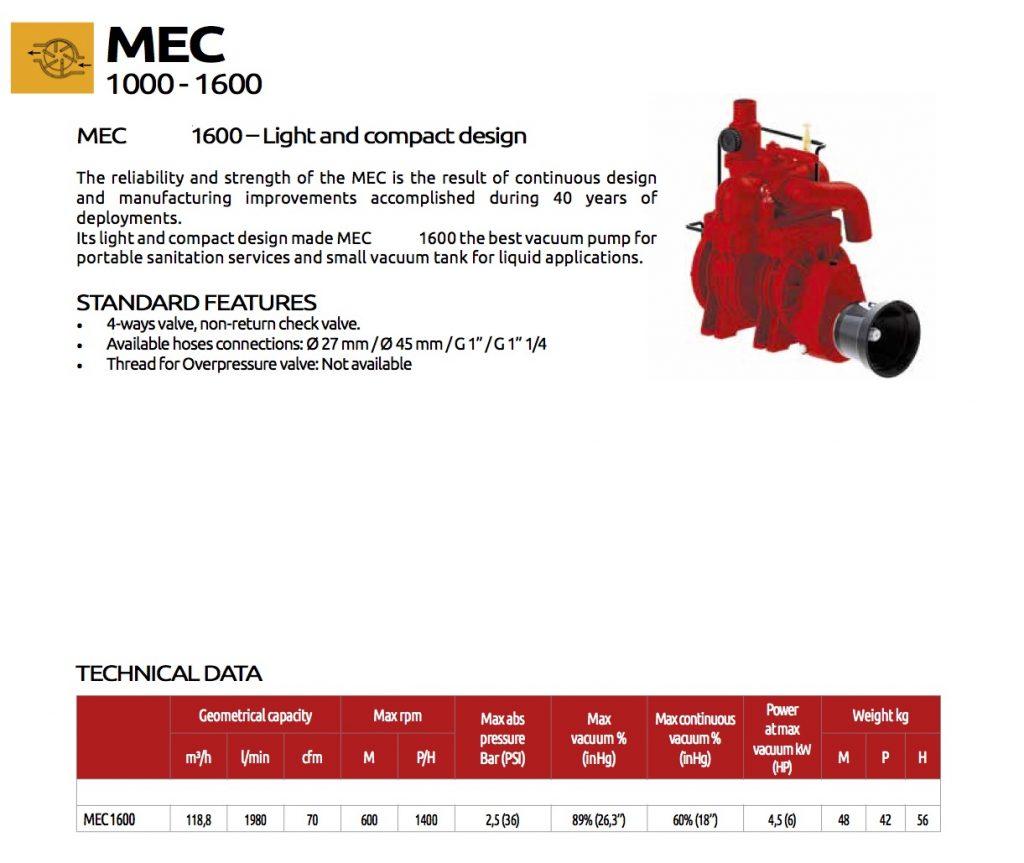 Mec1600 TrioTank Vacuum by Battioni Pagani