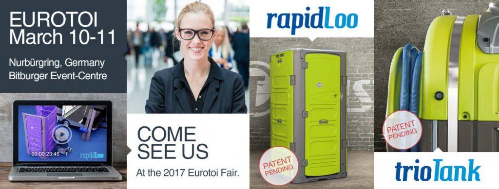 T BLUSTAR fabricant de toilettes chimiques expose au salon EUROTOI 2017