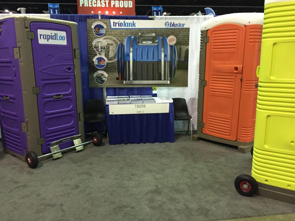 T blustar Portable Toilet Manufacturer in 2017 WWETT Show