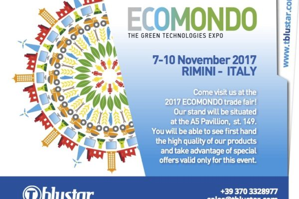 T blustar Ecomondo Green Tech Expo