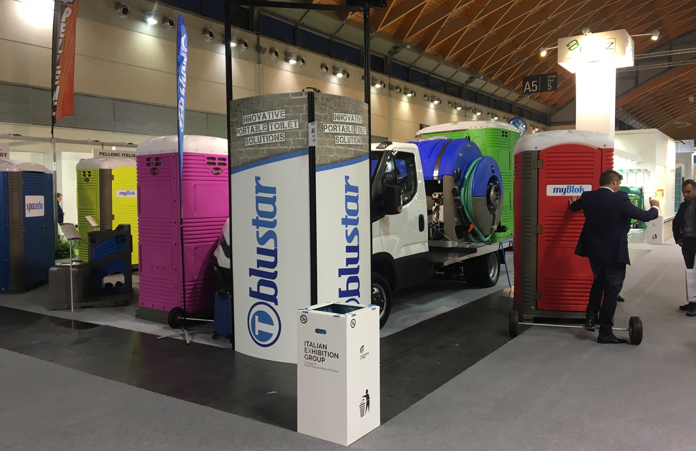 Portable Toilet Exhibition : Tblustar ecomondo 2017 booth 2 t blustar