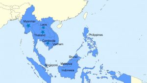 Map Southeast Asia distribution