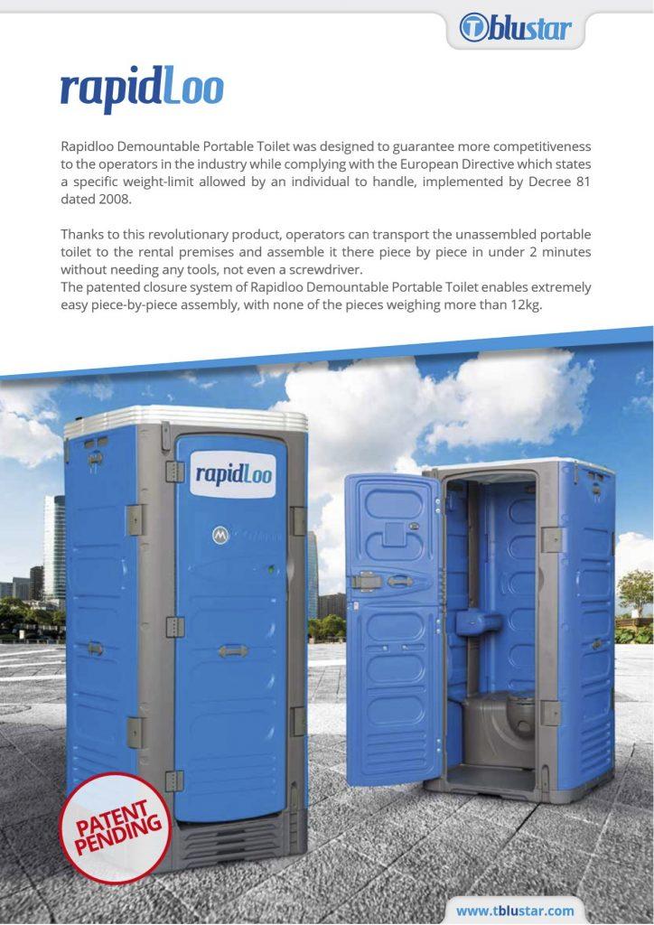 Understand RAPIDLOO INNOVATIVE RIVETLESS Portable Toilet | T