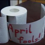 April fool toilet paper prank