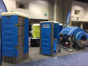 pumper show portable toilets