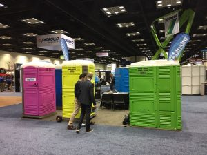 WWETT show 2018 portable toilets