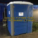 Large handicap accessible portable restroom