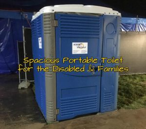 Large handicap accessible portable restroom