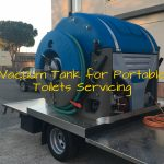 vacuum tank for portable restroom industry